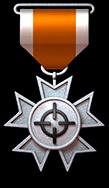 银锁定勋章